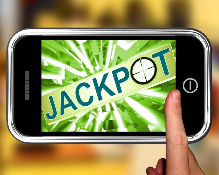 4604691-jackpot-on-smartphone-showing-target-gambling